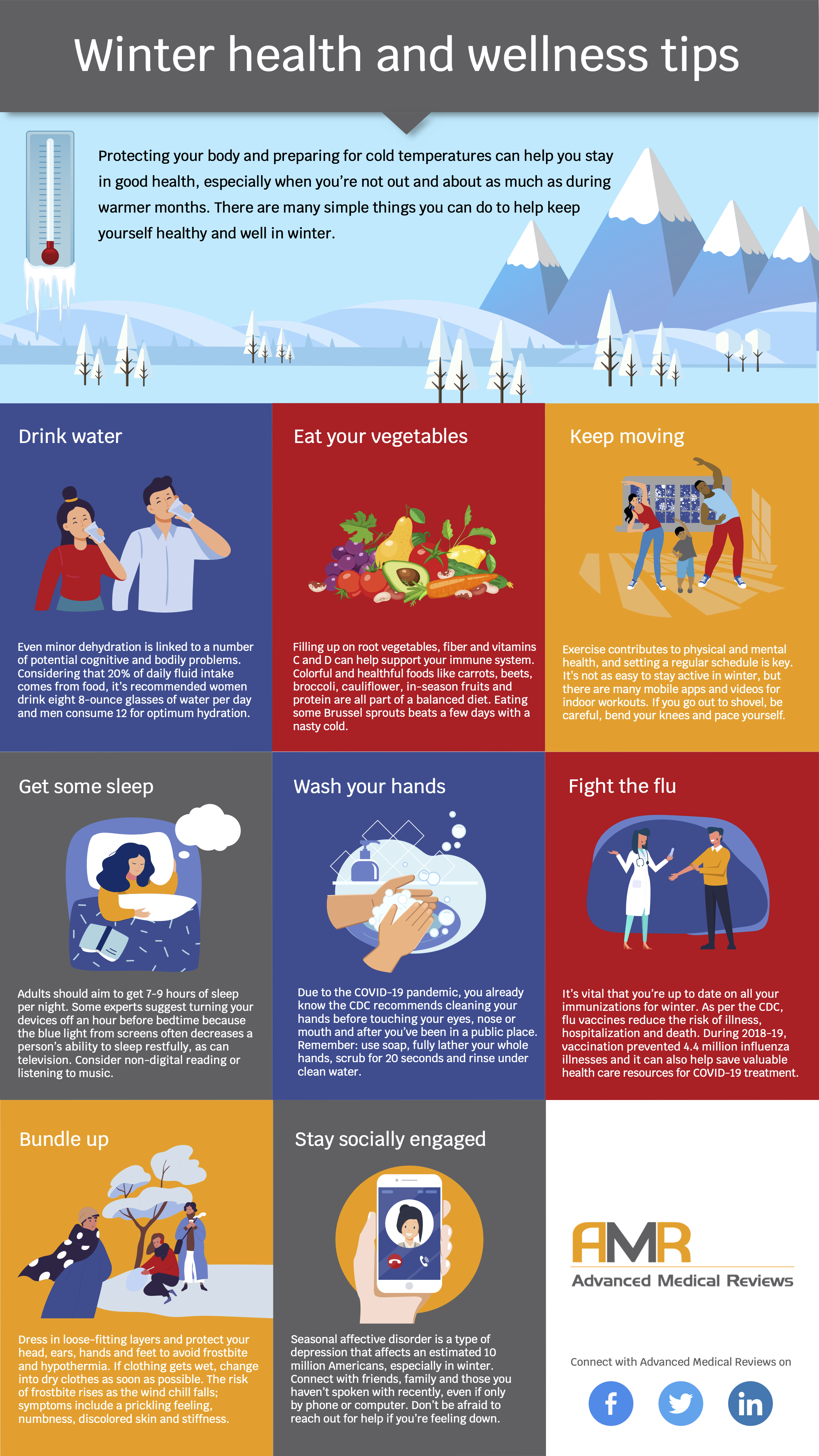 AMR Infographic_Winter Health and Wellness Tips